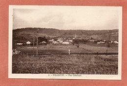 CPA - VILLOTTE (88) - Aspect De La Ligne De Chemin De Fer Devant Le Village Dans Les Années 30 / 50 - Autres Communes