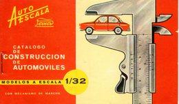 Catalogue PAYA AUTO ESCALA 1/32 1965 ? Construction De Automoviles - En Espagnol - Livres Et Magazines