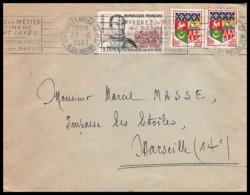 8888 Lettre Cover Bouches Du Rhone N°1295 Du Guesclin Krag 1961 Marseille Belle De Mai - Marcophilie (Lettres)