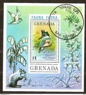 Vogels Oiseaux Grenada 1976 Yvertnr Bloc 48 (°) Used Cote 30 Ff - Grenade (1974-...)