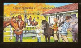 Finlande Finland Suomi 1990 Yvertn° Bloc 6 *** MNH Cote 5,50 Euro Faune Chevaux Paarden - Finlande