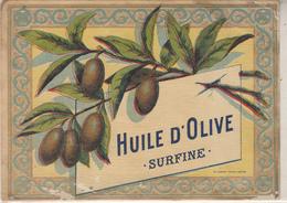 """Etiquette """" Huile D'Olive  SURFINE """" - Etiquettes"""
