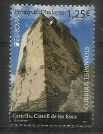 ANDORRA. EUROPA 2017. Castell De Les Bons. Un Timbre Neuf ** - Andorre Français