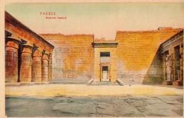 POSTAL ANTIGUA DE EGIPTO, THEBES, MEDINET HABOUT. (344) - Historia