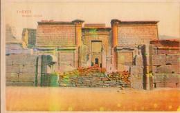 POSTAL ANTIGUA DE EGIPTO, THEBES, MEDINET HABOUT. (346) - Historia