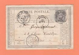 CONVOYEUR STATION NANTES (42) + GARE DE NANTES SUR CARTE POSTALE POUR PARIS - Railway Post