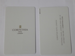 HOTEL KEY CARD - CORINTHIA HOTEL LONDON - Cartes D'hotel