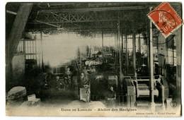 CPA 45 Loiret Chalette Usine De Langlée Atelier Des Machines Animé - France