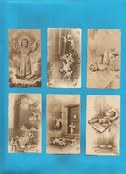 Lotto 6 Santini Fustellati Serie EB Seppia Nr. 681, 739, 683, 477, 684, 678 #Santino Bambino Gesu - Religion & Esotericism