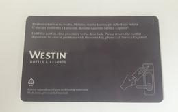 HOTEL KEY CARD - WESTIN HOTEL - Hotel Keycards