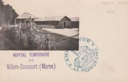 """Villers Daucourt  (marne ) Cachet  """" Hopital Temporaire  + Ambulance """" - Sur Cpa - Guerre De 1914-18"""