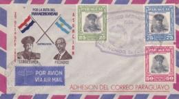PARAGUAY :  Stroessner X 3  Sur Lettre 1er Jour - Paraguay