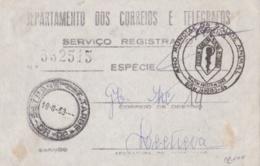 BRESIL  :  Recu De Recommandé De 1963 - Brazilië