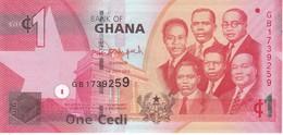 BILLETE DE GHANA DE 1 CEDI DEL AÑO 2014 EN CALIDAD EBC (XF) (BANKNOTE) - Ghana
