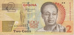 BILLETE DE GHANA DE 2 CEDIS DEL AÑO 2015 (BANKNOTE) - Ghana