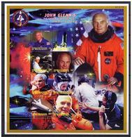 MICRONESIA SHEET SPACE COSMONAUTS ASTRONAUTES JOHN GLENN ESPACE ESPACIO - Space