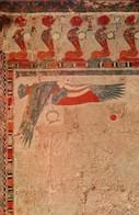 POSTAL DE EGIPTO, THEBES, HATSHEPSUT TEMPLE, WINGED FALCON AND URACUS DECORATION. (349) - Historia