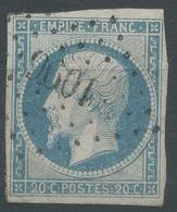 Lot N°45136  N°14A, Obli PC 1096 Dieppe, Seine-Inférieure (74), Bonnes Marges - 1853-1860 Napoléon III