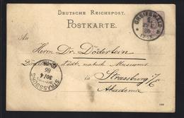 ALLEMAGNE - ENTIER POSTAL - GANZSACHE - POSTAL STATIONERY - GREIFSWALD 1886 - Deutschland