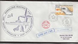 "E41 - TAAF PA92 Du 23.9.1986 CROZET. Grand Cacet Circulaire Du Patrouilleur "" ALBATROS"" Et VAGUEMESTRE. - French Southern And Antarctic Territories (TAAF)"