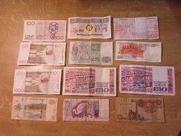 TC7 / LOT DE 12 BILLETS DIVERS MONDE Dans L'état !!! - Banknotes