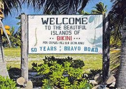 1 AK Marshall Islands * Bikini Atoll * Welcome-Sign-at-Erneu-Airstrip * Ehemaliges USA Kernwaffentestgelände * - Marshall
