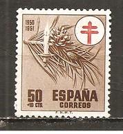 España/Spain-(MNH/**) - Edifil  1086 - Yvert 810 (óxido) - 1931-50 Nuevos & Fijasellos