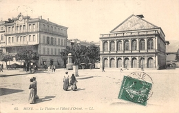 Annaba Bône LL 65 Théâtre Et L'hôtel D'orient Absinthe Berger - Annaba (Bône)