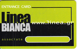 GREECE - Linea Bianca, Magnetic Member Card, Unused - Autres Collections