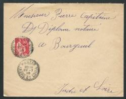 LSC AFFR  Par Yvert N° 283 Oblitéré Du Cachet Du Bureau De Distribution De Benais Le 22/07/1935 Lx0114 - 1932-39 Peace