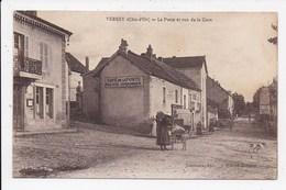 CPA 21 VERREY La Poste Et La Rue De La Gare - Otros Municipios