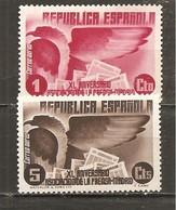 España/Spain-(MNH/**) - Edifil  711, 713 - Yvert Aéreo 96, 98 - Nuevos & Fijasellos