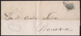 """ANTILLAS. 1882. HABANA A BARCELONA. 1 CT. DE PESO. MARCA """"FABRA Y CA/HABANA"""". - Cuba (1874-1898)"""