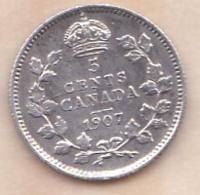 Canada, 5 Cents 1907 EDWARD VII, En Argent - Canada
