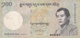 BILLETE DE BHUTAN DE 100 NGULTRUM DEL AÑO 2015   (BANKNOTE) - Bhután