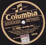 78 Trs - 25 Cm - état TB - LA TOSCA --- SELECTION, PART 1et 2 - NEW QUEEN'S HALL LIGHT ORCHESTRA - 78 T - Disques Pour Gramophone