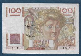 Billet 100 F  Jeune Paysan Du 1 - 10 - 1953 - 1871-1952 Anciens Francs Circulés Au XXème