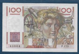Billet 100 F  Jeune Paysan Du 9 - 1 - 1947 - 1871-1952 Anciens Francs Circulés Au XXème