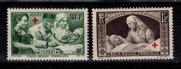 YV 459 / 460 N** Croix Rouge Cote 28 Euros - France