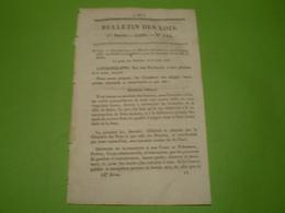 Bulletin Des Lois : Crédit Pour Les Incendiés De Salins & Forêt De La Joux . Echange Forêt De Borne, Bois De Varennes... - Décrets & Lois