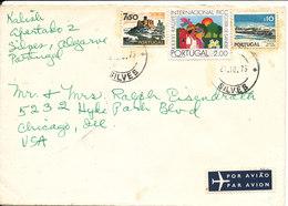 Portugal Cover Sent Air Mail To USA 21-10-1976 - 1910-... République