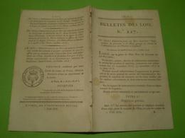 1818 . Louis XVIII . Organisation Du Personnel & Administration Des Poudres & Salpêtres. Lettres Patentes Pour Majorat . - Décrets & Lois
