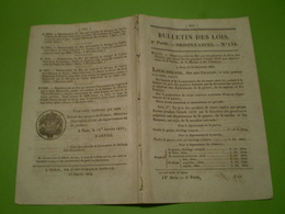 Loi : Prix Des Poudres. Pont Sur La Saône à Soing, Sur La Vienne à L'Ile Bouchard Avec Tarif Des Droits De Passage+ Ordo - Décrets & Lois