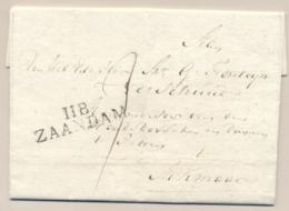 Nederland - 1814 - Complete Vouwbrief Van 118 ZAANDAM Naar Alkmaar - Pays-Bas