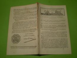 13 Fructidor An V : Loi Relative à L' Exploitation, La Fabrication Et La Vente Des Poudres Et Salpetres . Grenadiers.. - Décrets & Lois