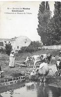 ENVIRONS DE MEULAN -  1908 - CONDECOURT -  L ABREUVOIR AU HAMEAU DE VILLETTE - Meulan