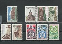 CONGO Scott 204, 205-207, 214-215, 219-221 Yvert 250, 251-253, 261-262, 265-267 (9) ** Cote 11,90 $ 1970 - Congo - Brazzaville