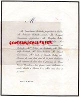 86- POITIERS- FAIRE PART DECES THERESE BEAUBEAU 17 MAI 1846- JEAN ANDRE RICHAULT ETABLES-LIMOUSINEAU -NAPOLEON ROBIN - Décès
