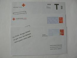 Croix Rouge, 3 Enveloppes Prêt à Poster Réponse Luquet, Lamouche Et T, Neuves, TB. - Entiers Postaux