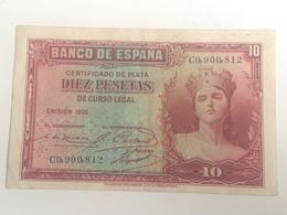 Billete 10 Pesetas. 1935. República Española. Pre Guerra Civil - 10 Pesetas
